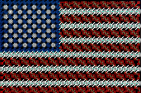 American flag made from KNEX