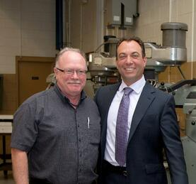 Michael Araten, President and CEO with Lowell Allen, Senior Vice President of Manufacturing.