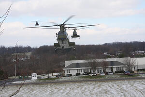 three helicopters