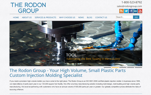 The Rodon Group webiste homepage