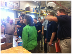 Student tour of The Rodon Group manufacturing facility and Baxter from Rethink Robotics