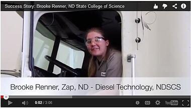 STEM Student video testimonial still shot