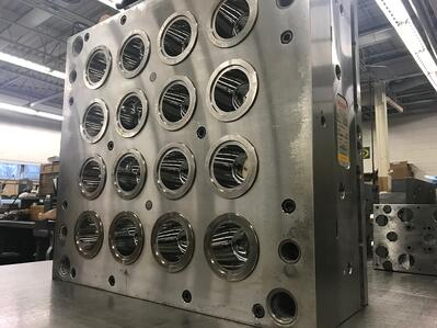 Picture of the outside of a hot runner mold