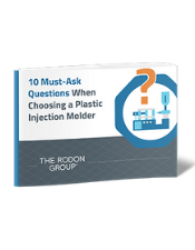10 Must-Ask Questions When Choosing a Plastic Injection Molder 3D eBook Cover