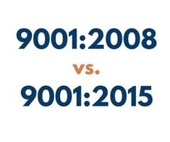 9001:2008 vs. 9001:2015