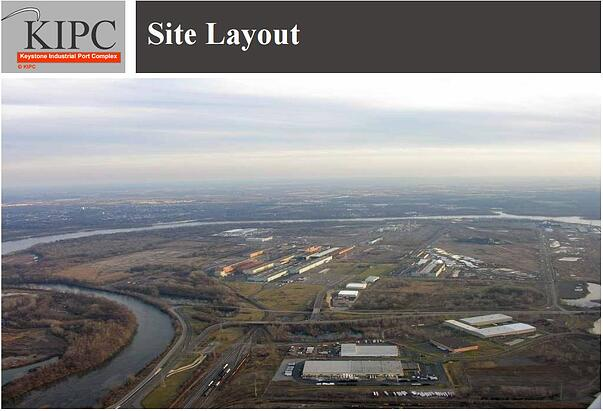 KIPC website screenshot with an aerial view of their facility