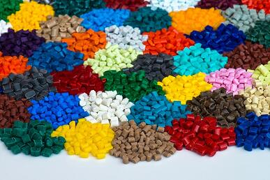 piles of colorful resin pieces