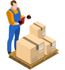 Worker Checking Stock